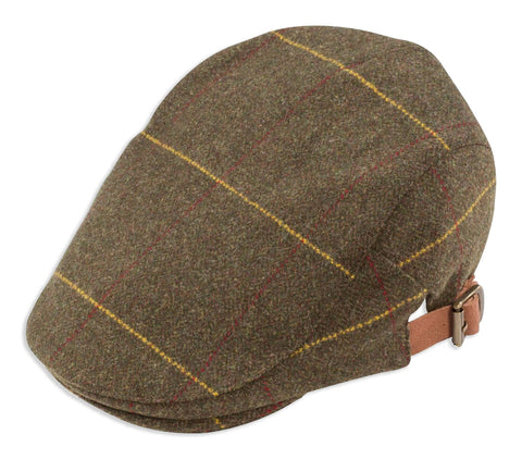 Alan Paine Combrook Tweed Adjustable Flat Cap