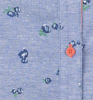 swatch for blue chambray shirt
