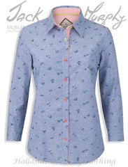 Jack Murphy Lorraine Ladies blue chambray  Cotton Shirt
