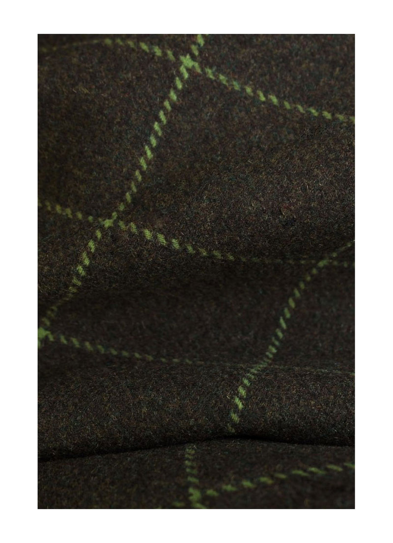 dark green tweed with cross pattern