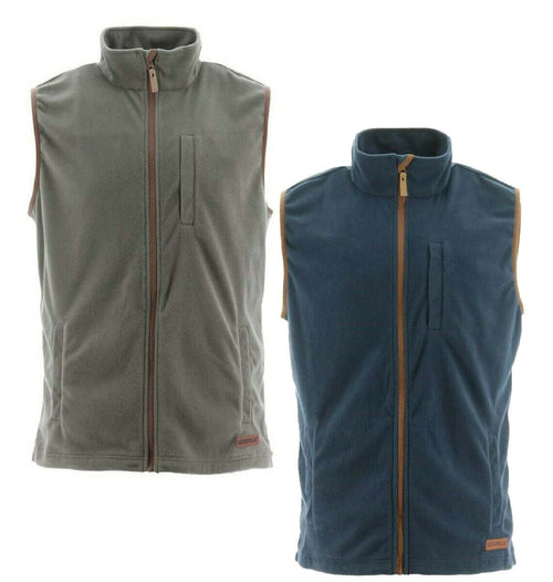 Caterpillar AG Fleece Bodywarmer | Cypress Green, Eclipse Navy