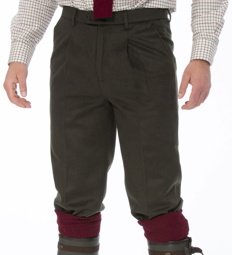 Alan Paine Men's Loden Shooting Breeks WORN WITH TATTERSALL SHIRT