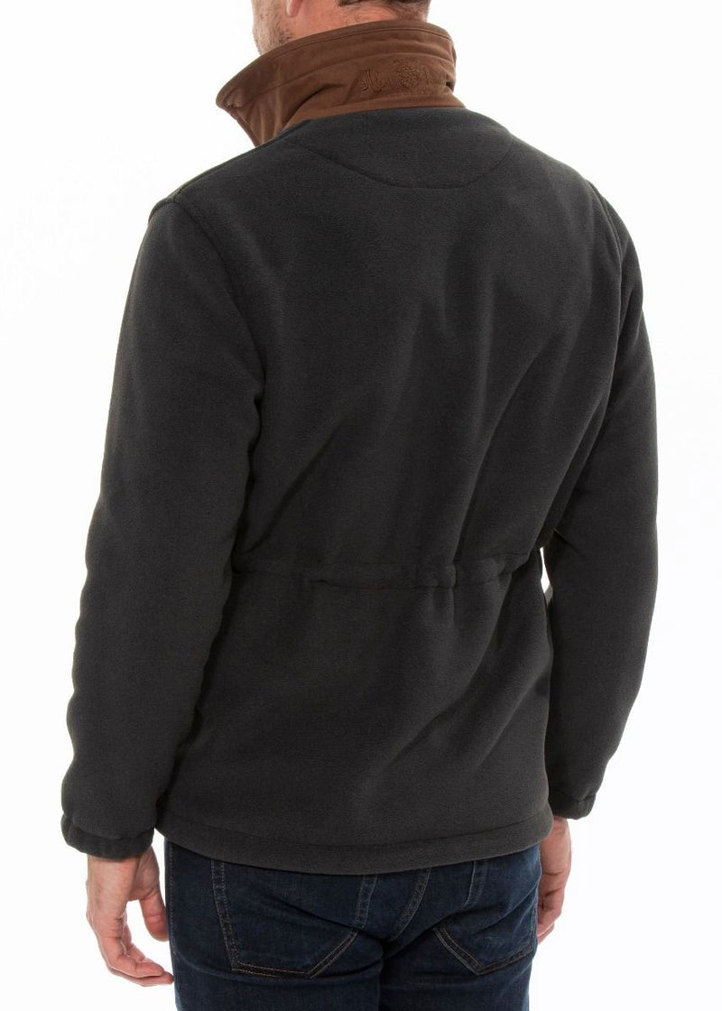 Back View Alan Paine Aylsham Fleece Jacket | Charcoal