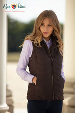 Women's classic Country Baffle Quilt Waist coat