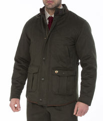 man wearing Alan Paine Loden Quilted Jacket