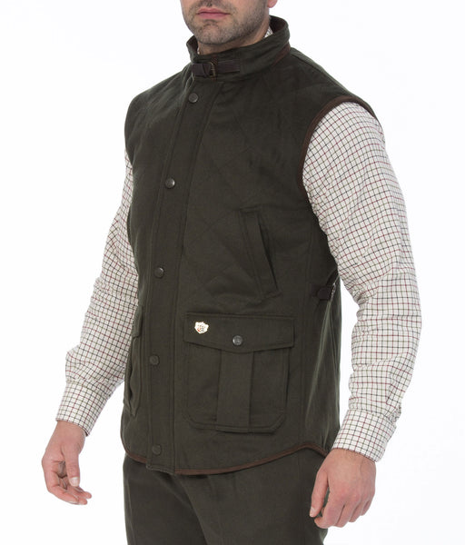 Alan Paine Loden Quilted Gilet Hollands Country Clothing