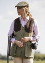 woman shooting in alan paine waistcoat