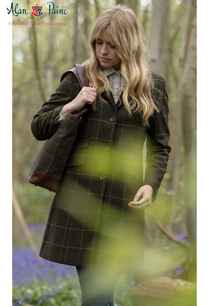 nineties sixties look tweed coat