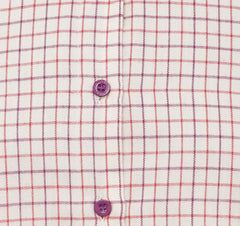 ladies red tattersall check shirt hoggs
