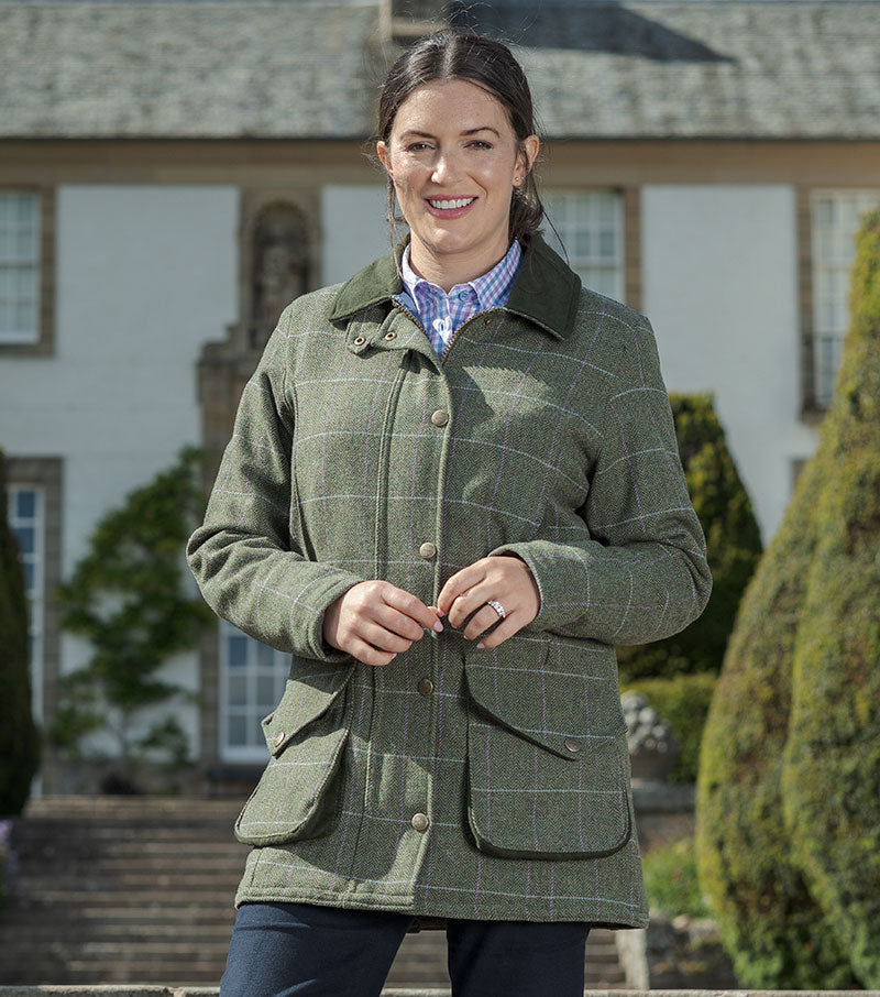 Hoggs Albany Waterproof Lambswool Shooting Coat