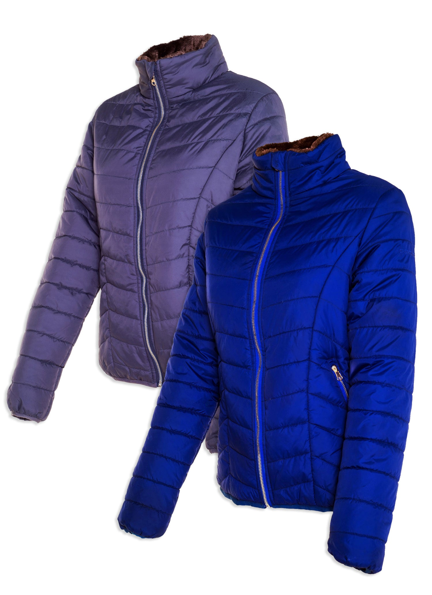 Sporting Hares Alderbury Quilted Jacket in blue and gunmetal