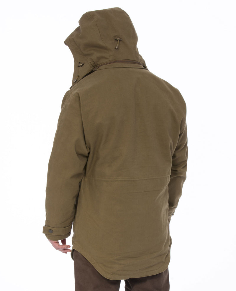 With large hood up Alan Paine Kexby Waterproof Smock