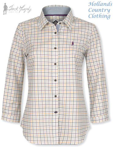 JAck Murphy Anna in Meadow sweet ladies tattersall shirt