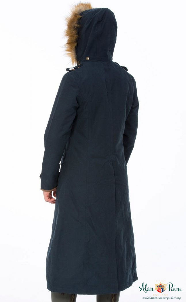 hood up Berwick Ladies Long Waterproof Coat - Classic Fit