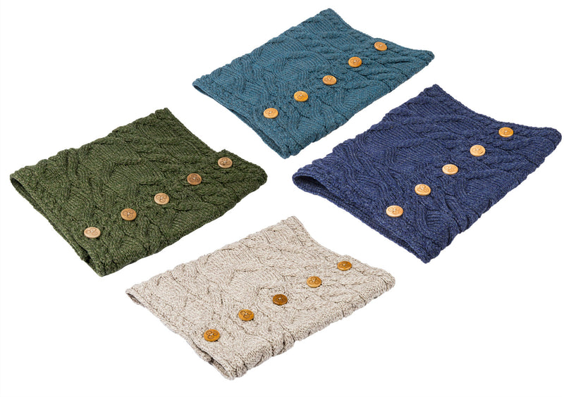 Aran Merino Wool Button Snood