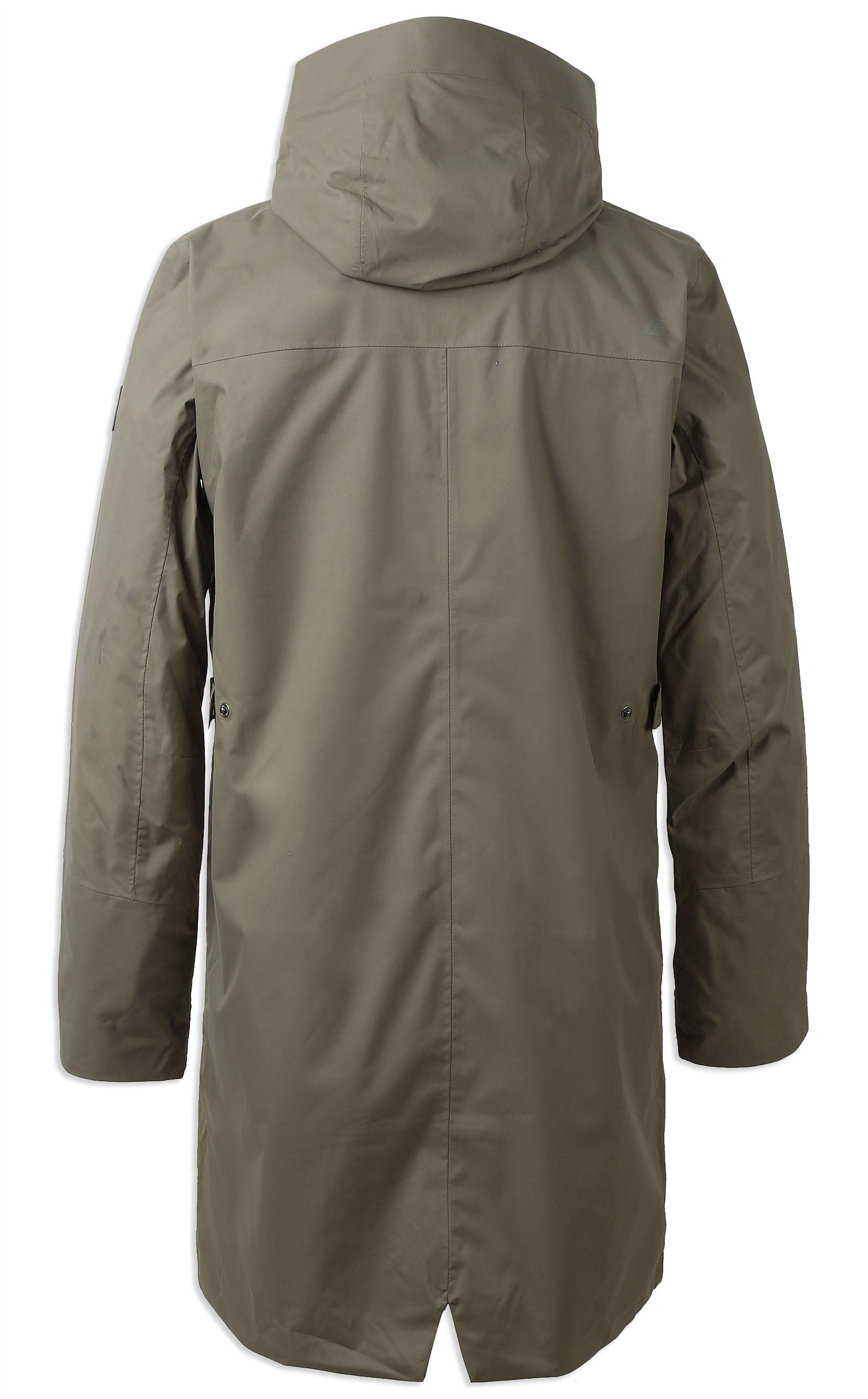 rear view Men's Arnold Waterproof Parka Coat by Didriksons in Crocodile Green