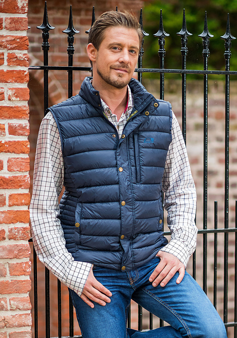 Aston Men's Baffle Quilted Bodywarmer by Baleno