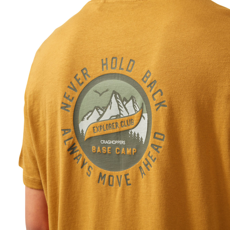 Never hold Back Dark Butterscotch Craghoppers Mightie T-shirt