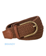 Brandy coloured Pascal Woven Stretch Polo Belt by Baleno