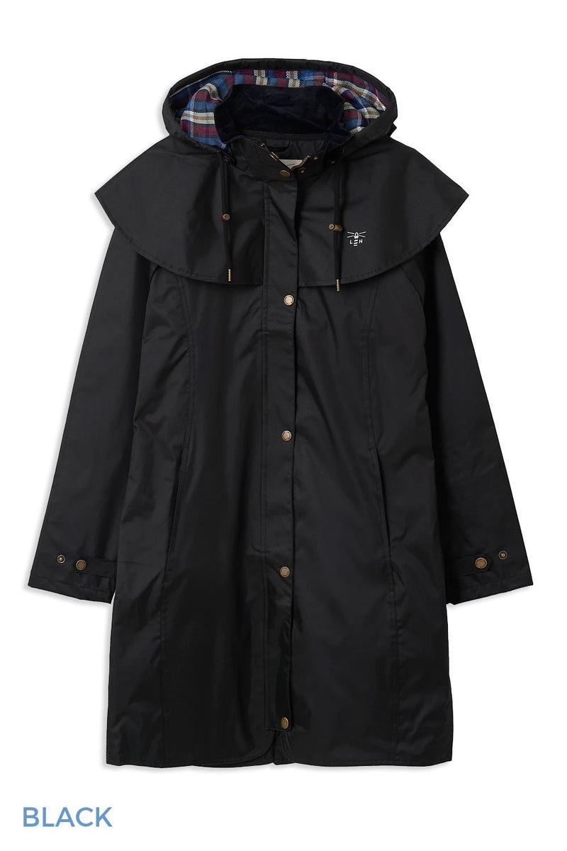 Black Lighthouse Outrider 3 Ladies Three Quarter Waterproof Coat
