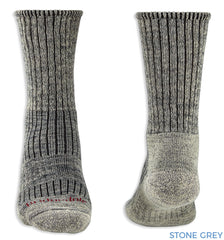 Heel and toe Stone Grey Bridgedale Hike Midweight Comfort Sock