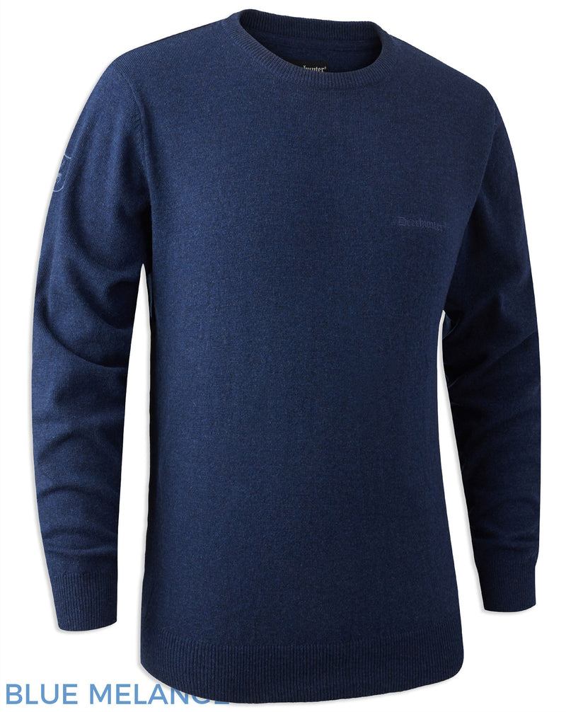 Blue Melange wool Sweater pullover