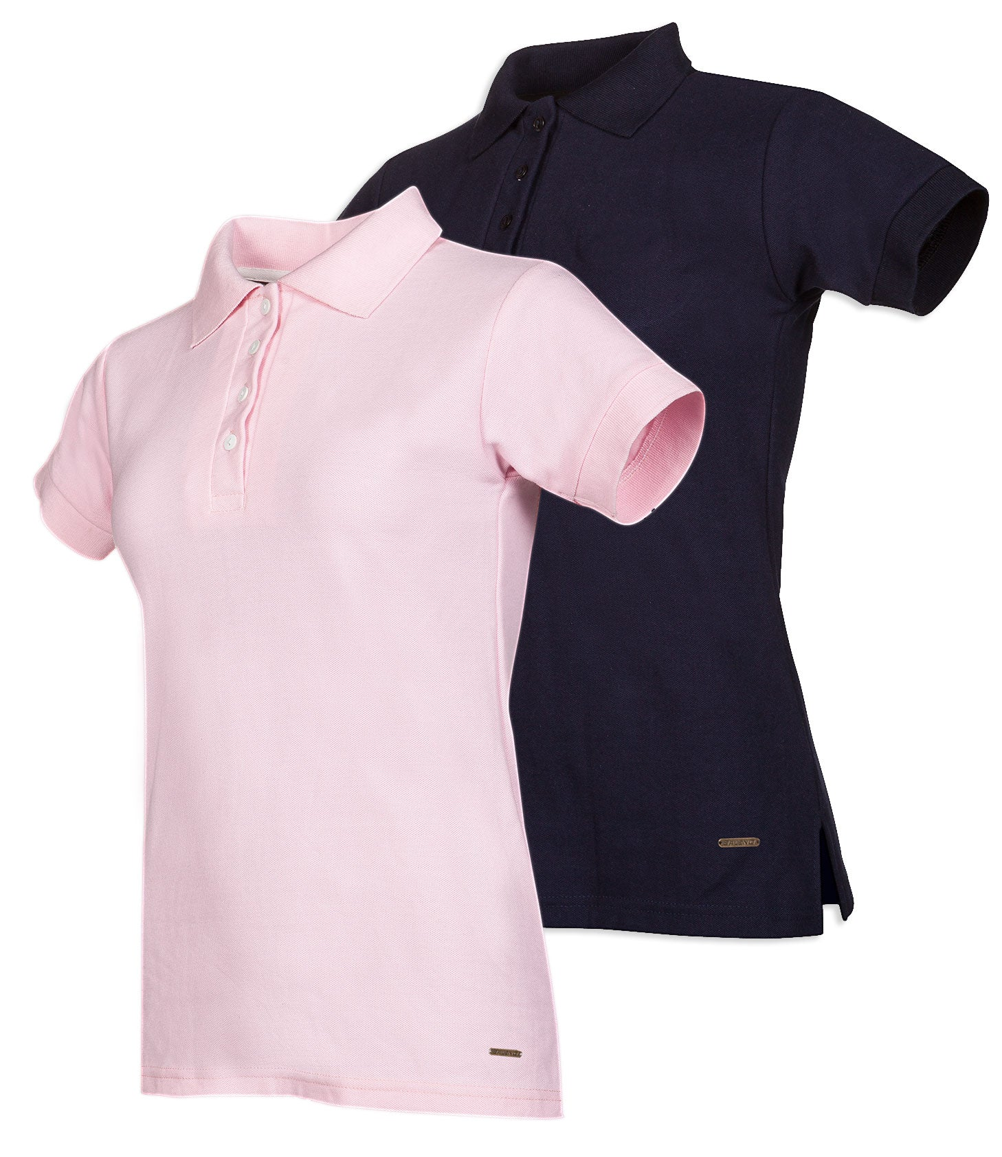 Baleno Steffi Ladies Polo Shirt in Pink and Navy