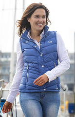 pleasant light blue Baleno Astrid Quilted Gilet