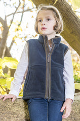 girl wearing Baleno Wizz Kids Fleece Gilet
