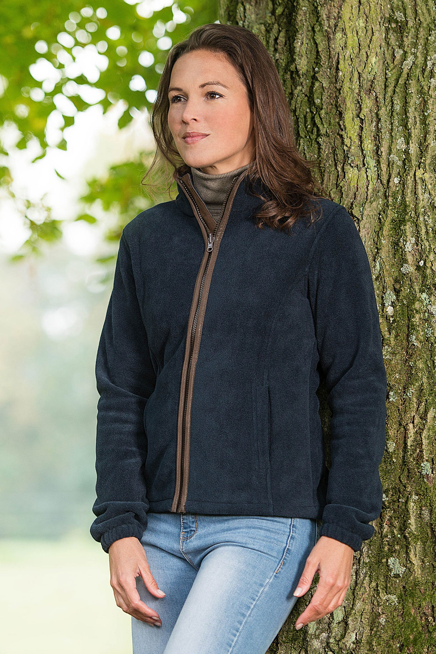 Baleno Sarah Fleece Jacket Hollands Country Clothing Jaket Navy List Red Ladies