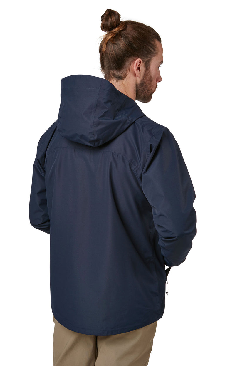Navy with shaped hood