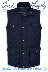 barry quilted bodywarmer in navy