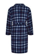 Back View Navy Champion Bayswater Fleece Dressing Gown