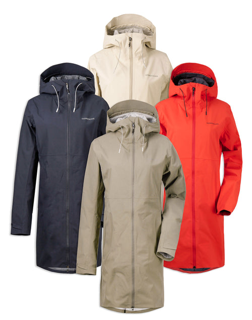 Didriksons Bea 3 Waterproof Parka | Poppy Red, Mistel Green,  Navy, Light Beige
