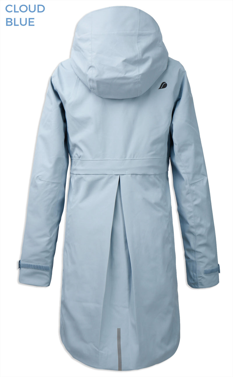 Back View Cloud View Didriksons Bea 2 Waterproof Parka
