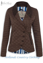 BELINDA Shopping Trip Brown Ladies' Quilted Jacket JACK MURPHY JAC 640