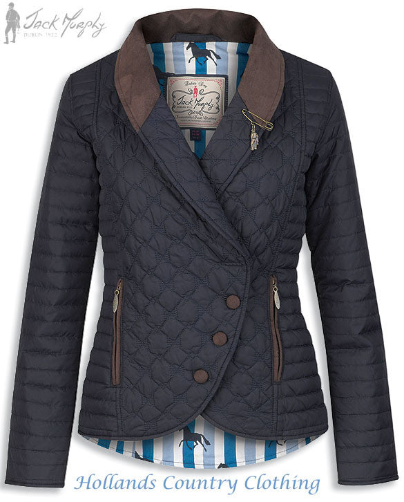 Jack Murphy Belinda Quilted Jacket in navy