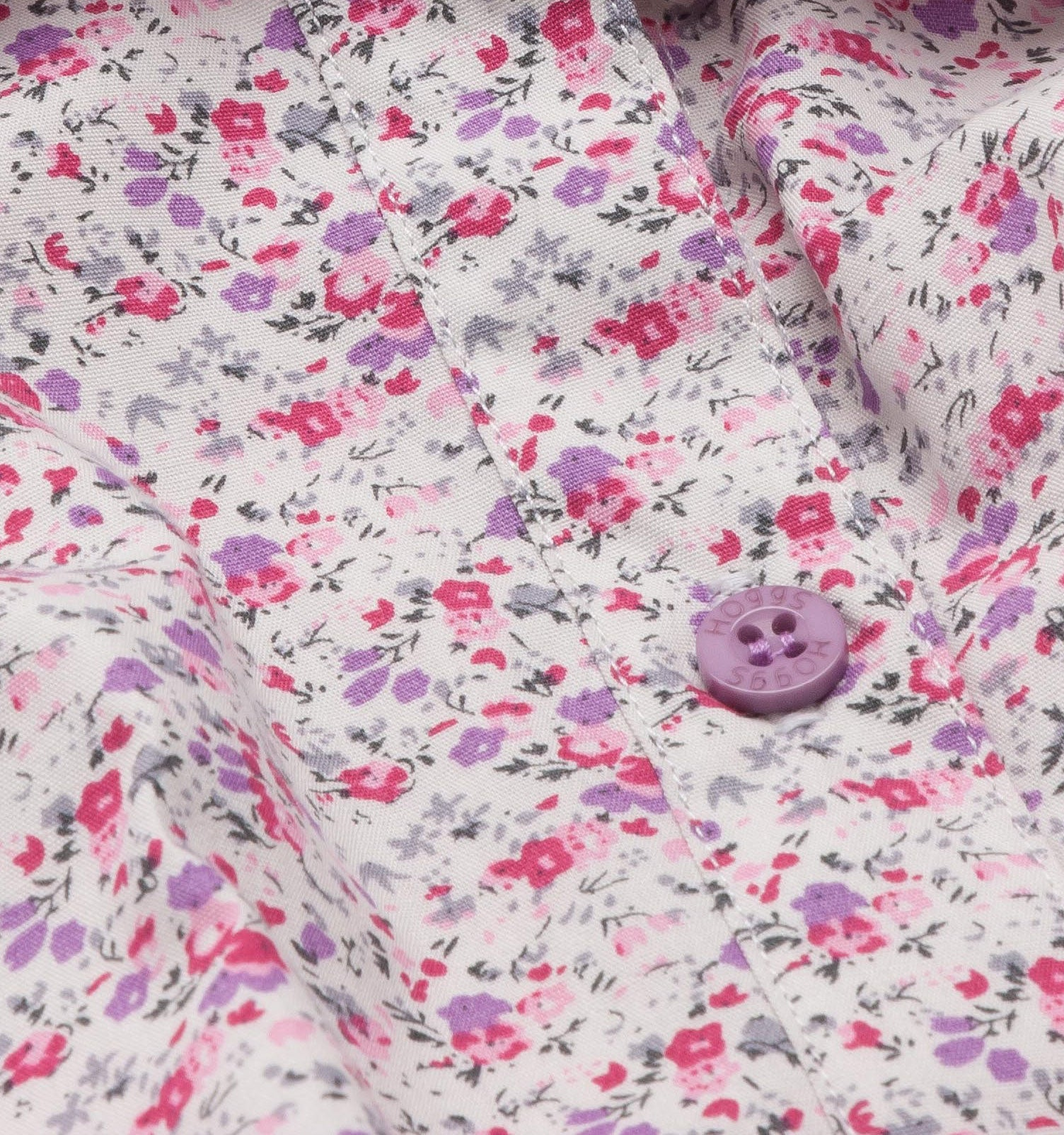 flower and button detail Hoggs of Fife Bella ladies Floral Shirt