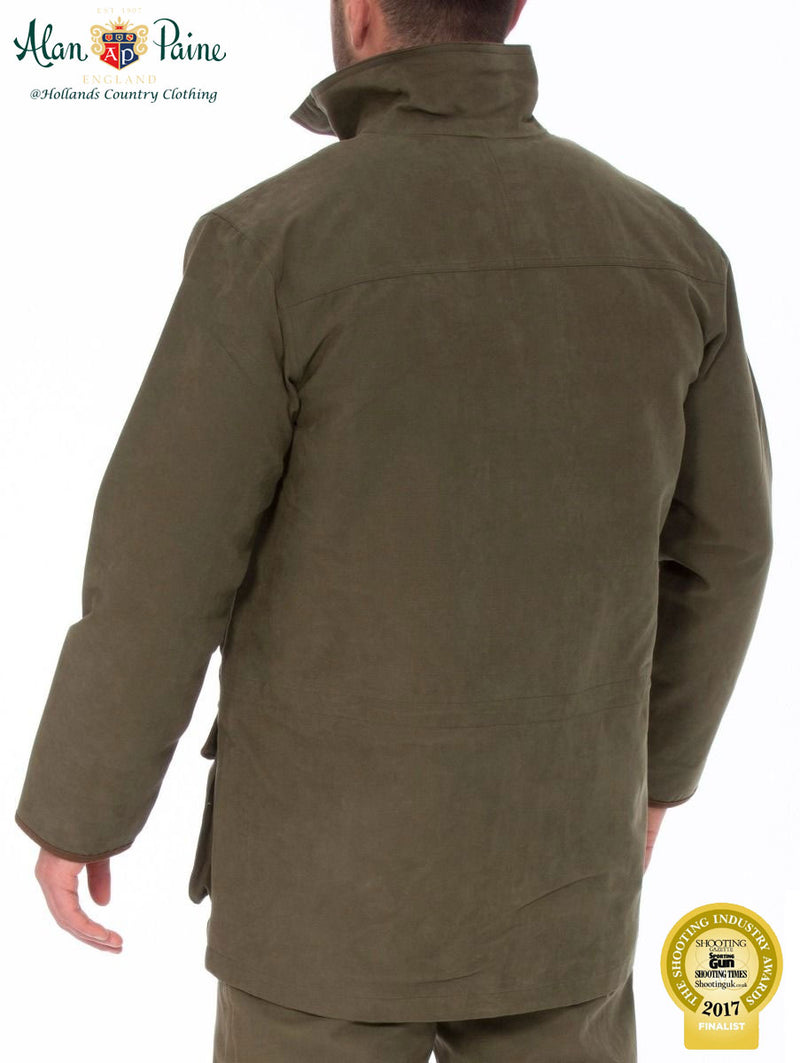 rear view Berwick Men's Waterproof Coat by Alan Paine