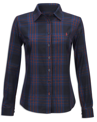 Jack Murphy Bianca Shirt | Burnt Blue
