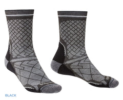 Black Bridgedale Hike Ultra Light T2 Boot Sock