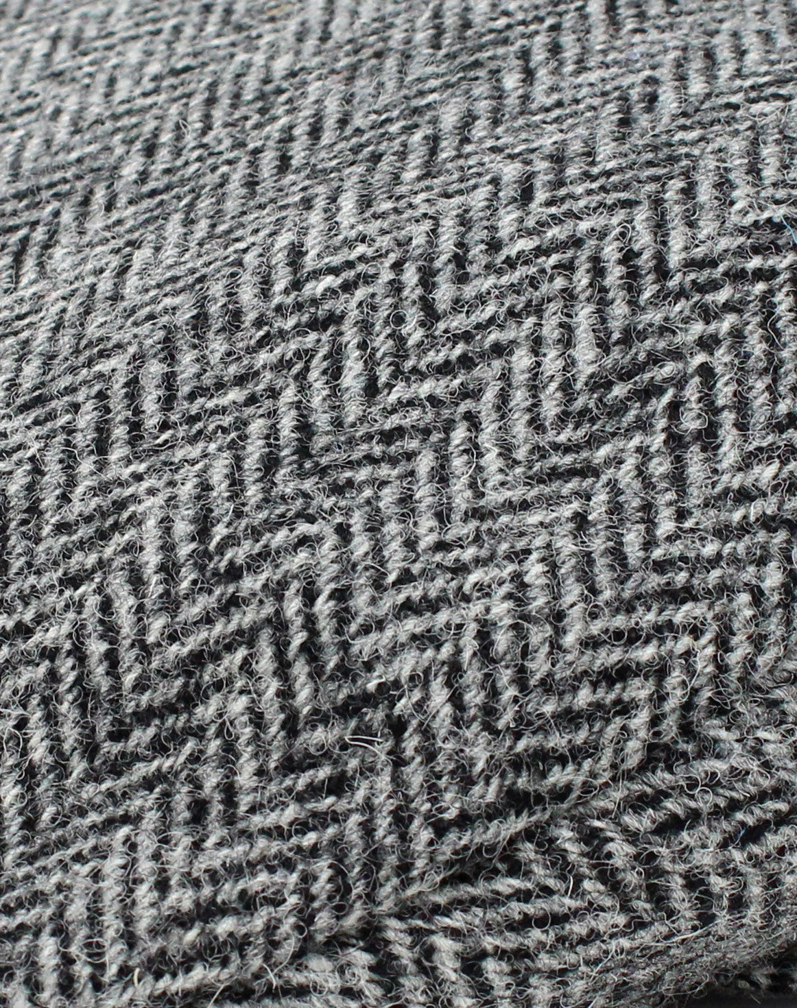 Colour; Black and Grey Herringbone tweed