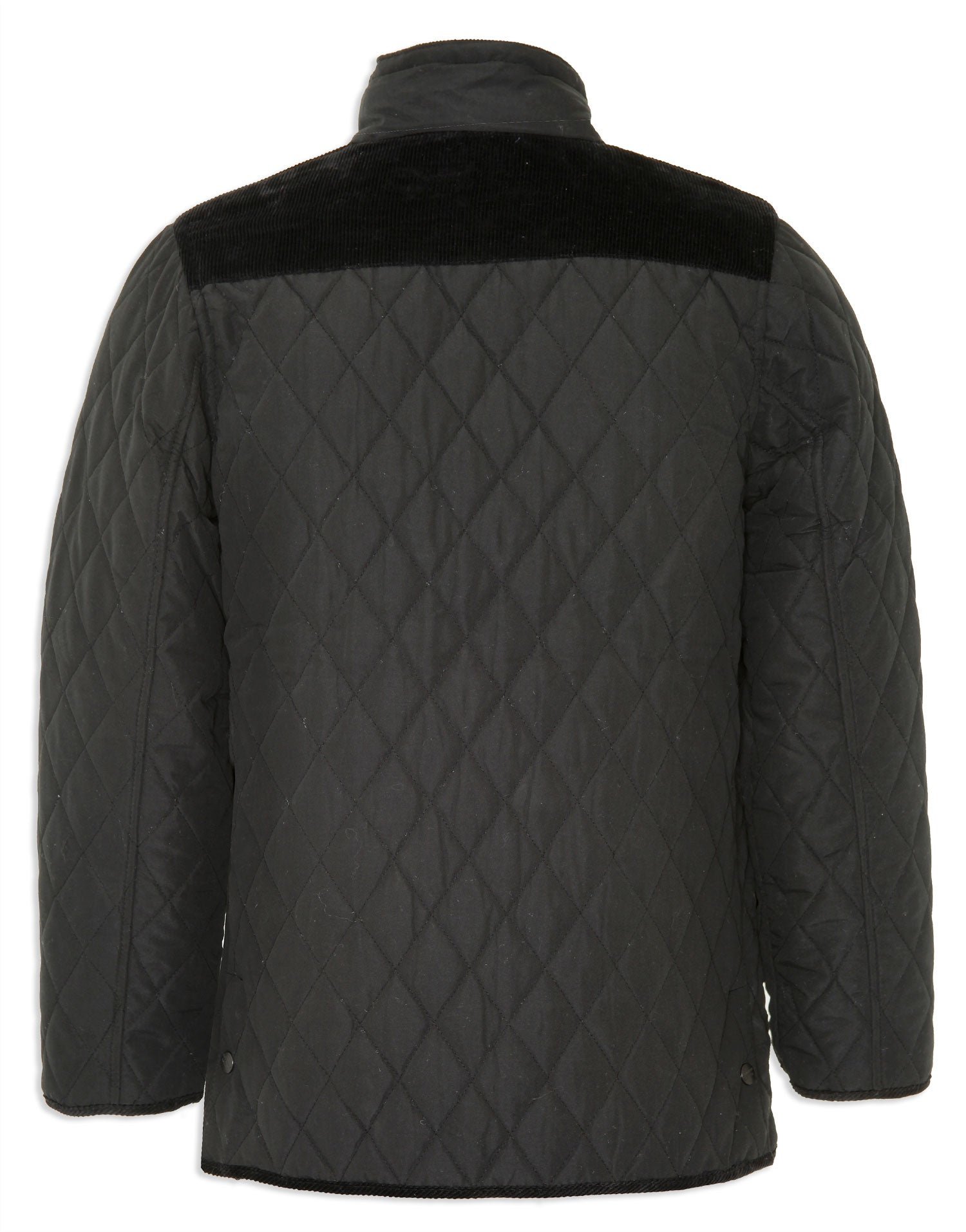 rear view Champion Lewis Diamond Quilted Jacket in Black