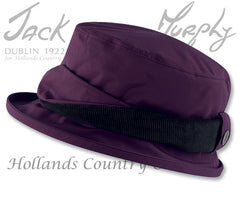 Jack Murphy ladies Waterproof Malvern hat Blackberry
