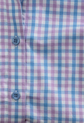 blue and pihk check Hoggs of Fife Becky Ladies Cotton Shirt
