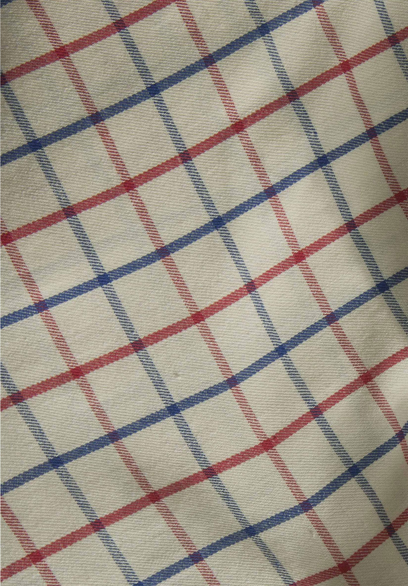 red and navy tattersall check