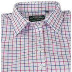 ladies blue and pink tattersall shirt