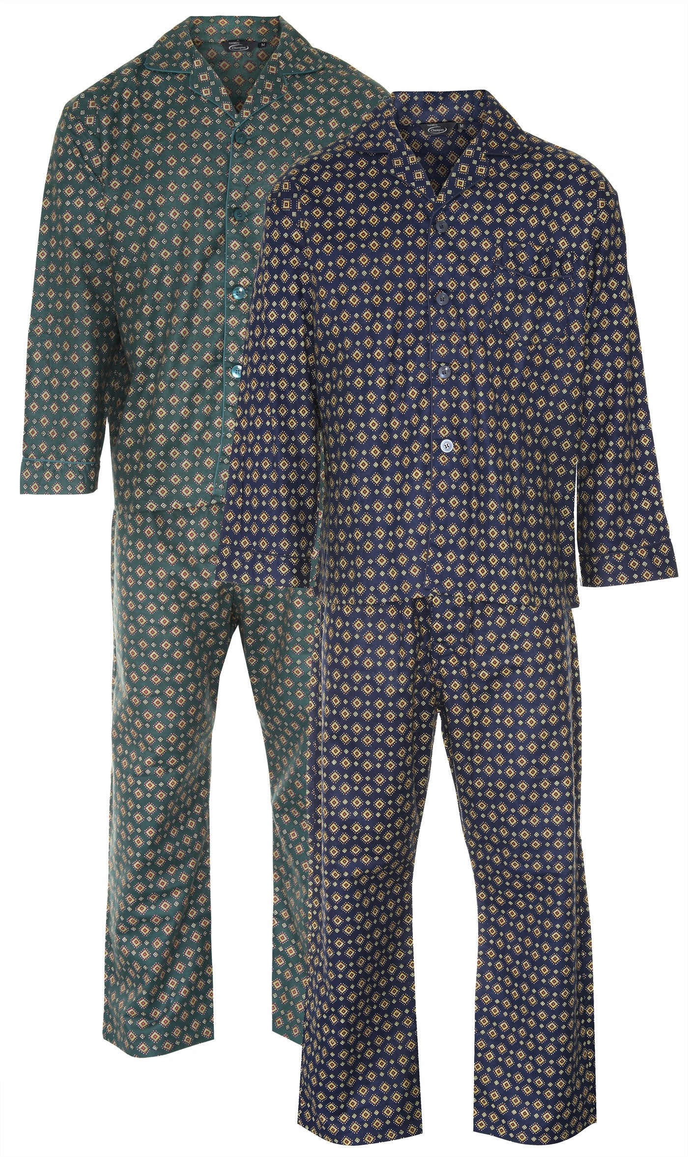 pair of pyjamas by champion blue sea pyjamas all pure cotton