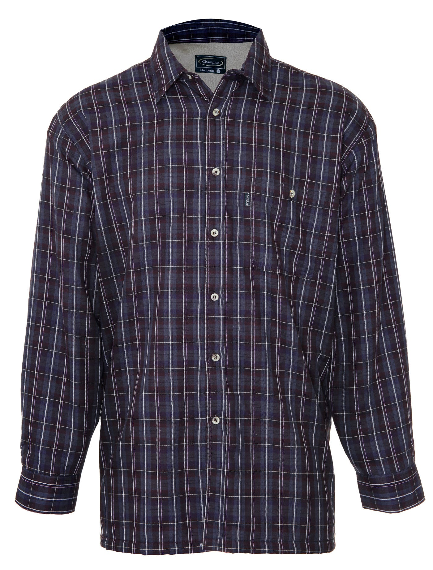 Champion Sherborne Shirt Warm Lined Shirt  A country plaid check shirt with a micro fleece lining.
