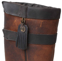 Catesby Blenheim Ladies Leather Country Boot showing zip puller